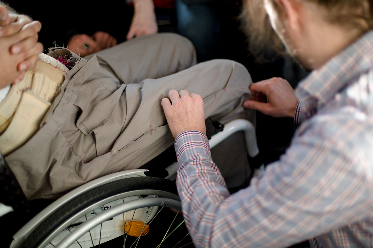 Anpassung im Rollstuhl © HTW Berlin_Irma Fadhila