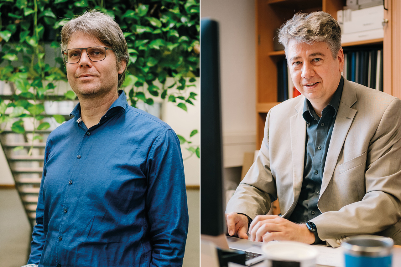 Prof. Sebastian Feucht (links) und Prof. Dr. Frank Fuchs-Kittowski